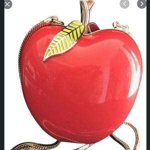 kate spade far from the tree red resin apple purse
